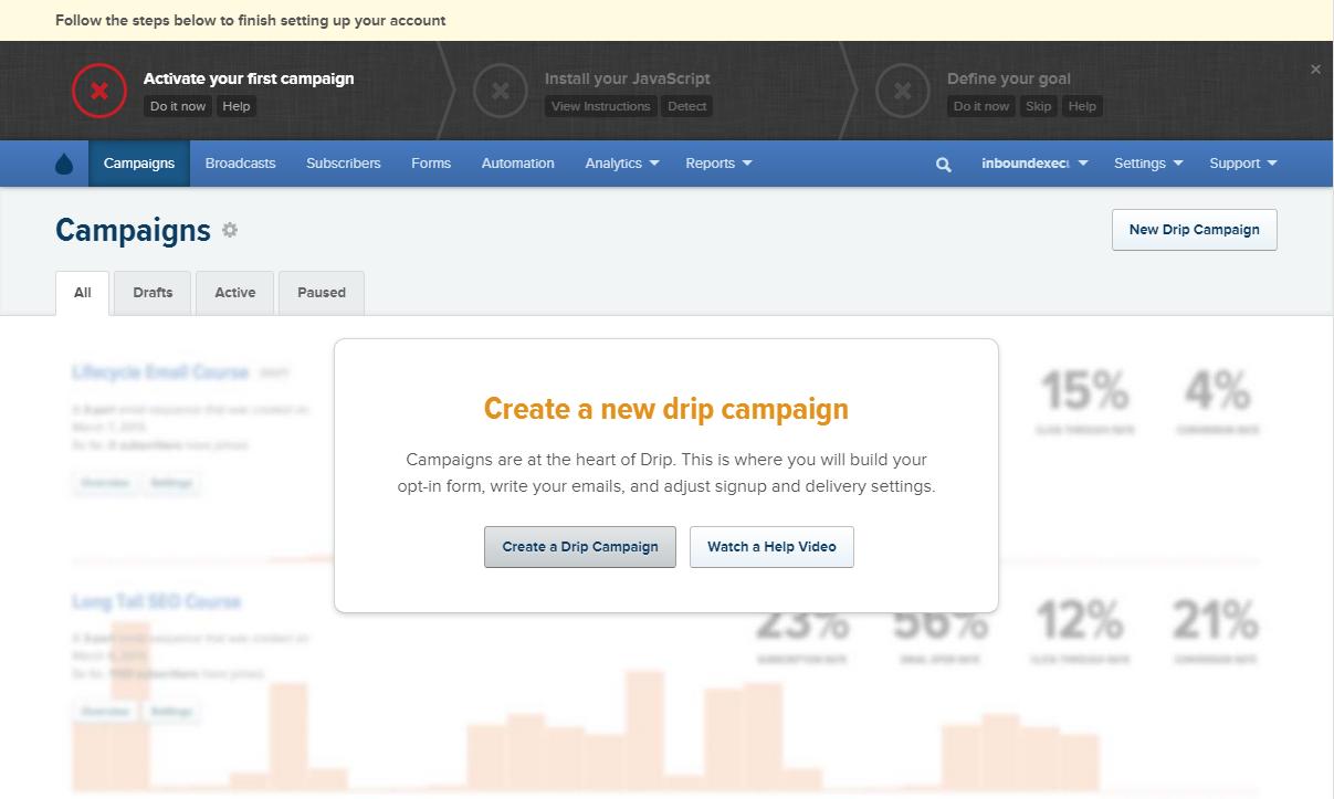 Create a New Drip Campaign