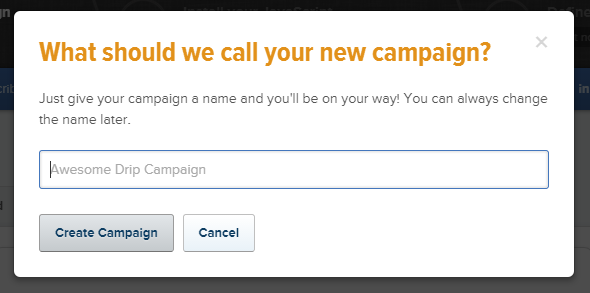 What should we call your new campaign?