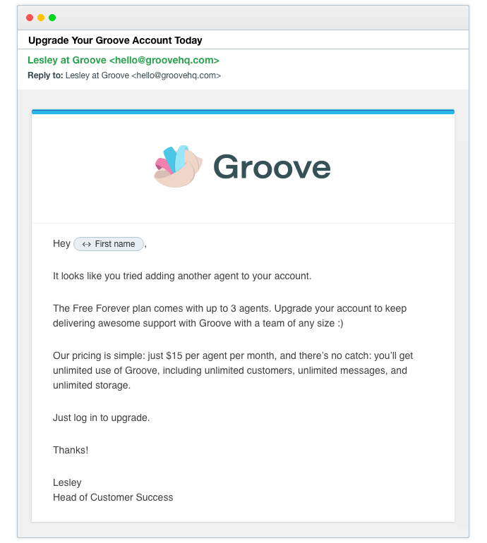 GrooveHQ-Upsell