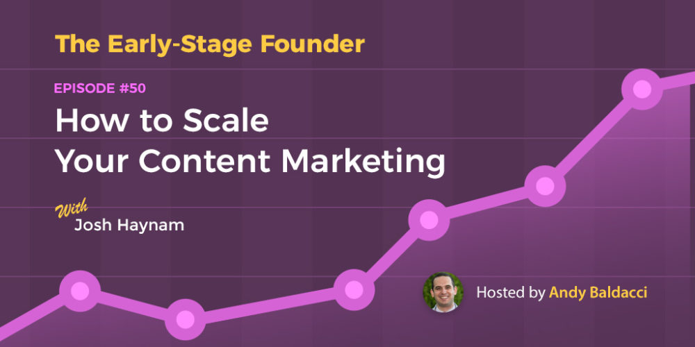 Josh Haynam on How to Scale Your Content Marketing
